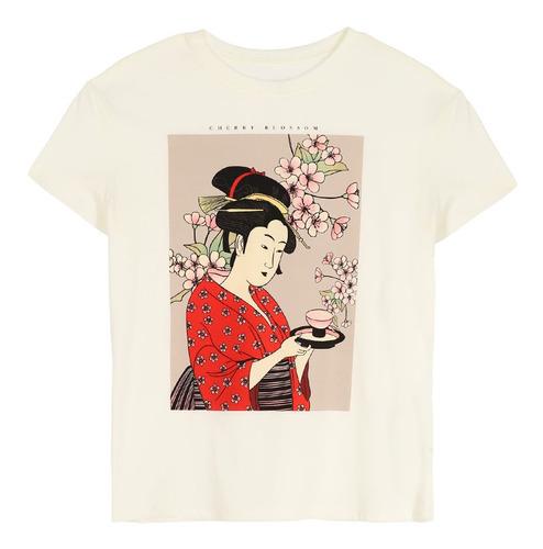 playera cultura oriental de mujer c&a (mod 1057718)