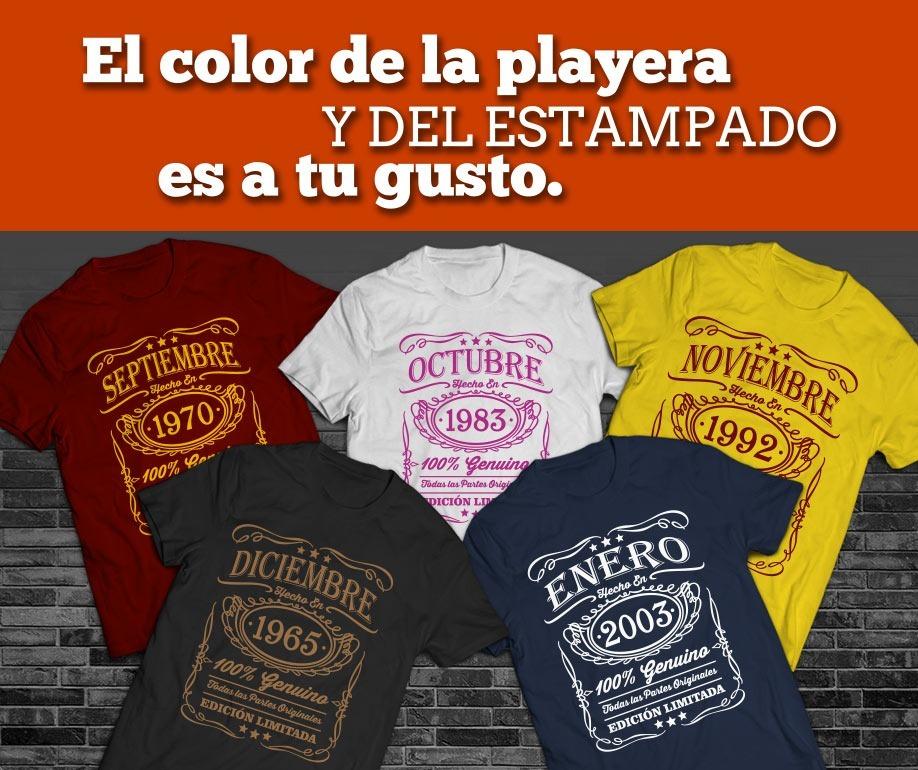 a0ea1239817ad Playera Cumpleaños Mes Año Personalizado Abril -   165.00 en Mercado ...