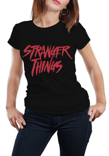 playera dama stranger things serie netflix vinil
