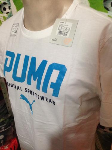 playera de algodon puma 100%original casual sport blanca
