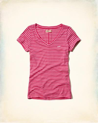 playera de dama hollister california color rosa.