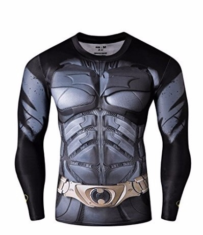 playera de gym fitness batman gris mediana