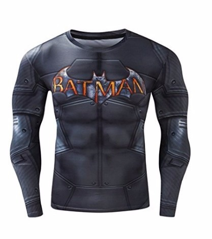 playera de gym fitness batman negro 2xl