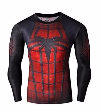 playera de gym fitness spiderman grande