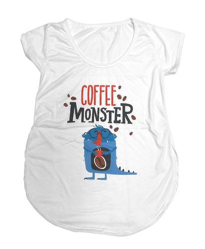 playera de mujer estampada - coffee monster