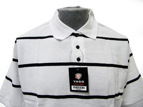 playera de piqué tipo polo m/c marca yago - varios modelos