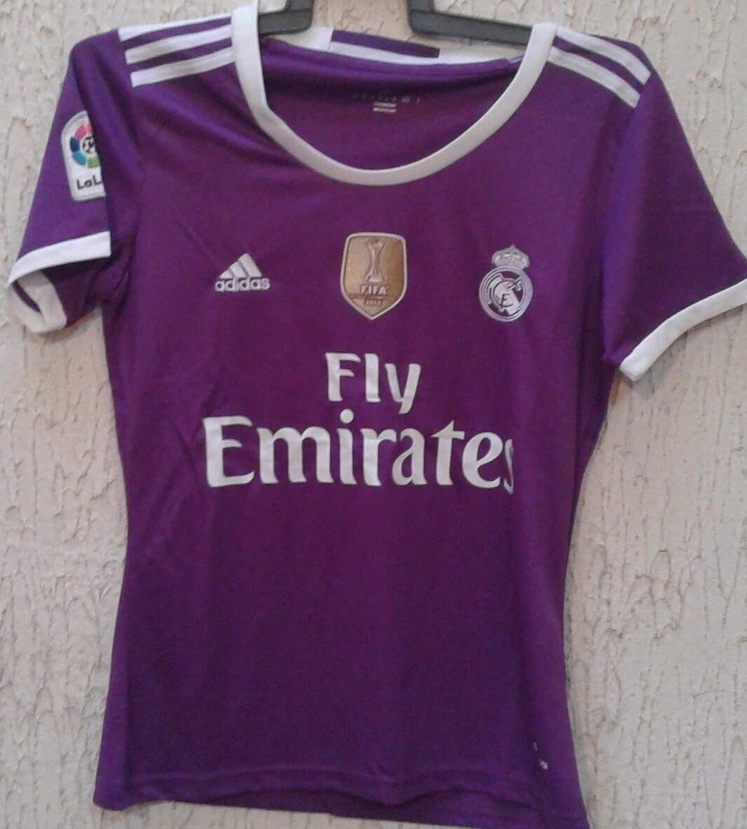 82ca7b8242337 Playera Del Real Madrid Morada De Mujer. -   390.00 en Mercado Libre