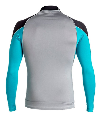 playera deportiva para surf manga larga gris quiksilver