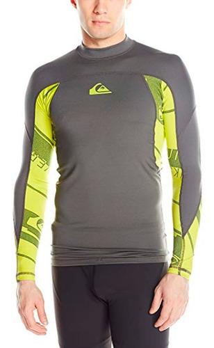 playera deportiva para surf manga larga gris verd quiksilver