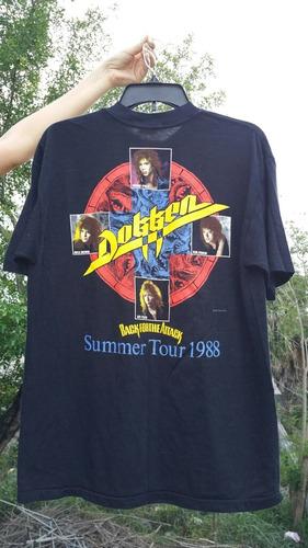 playera dokken vintage 1987 88 tour antigua original