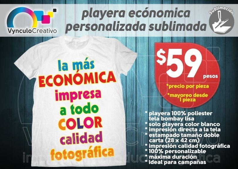 d5943699f5c26 playera Económica Personalizada Sublimada Color Desde 1 Pza ...