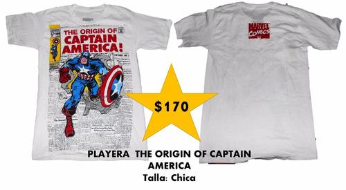 playera el origen del capitán américa