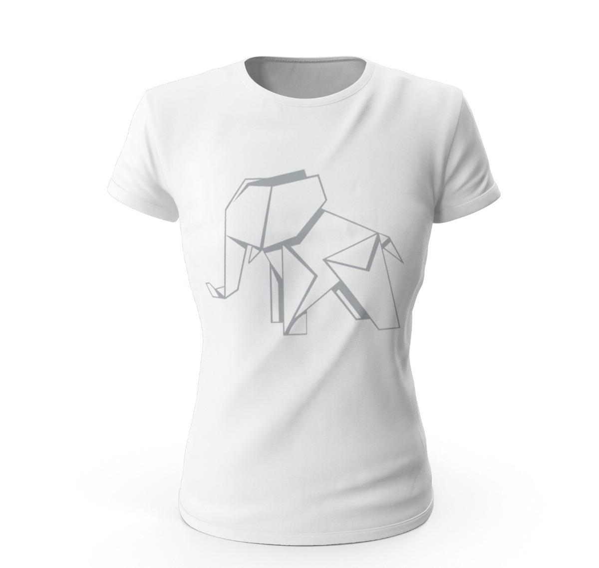 Playera Elefante Origami Con Diseño Relieve Envío Gratis! - $ 289.00 ...