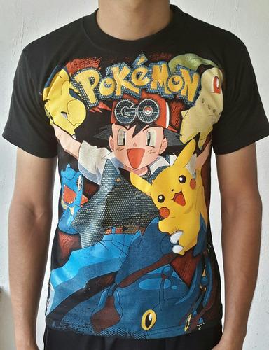 playera estampada pokemon go juvenil con envio dhl express