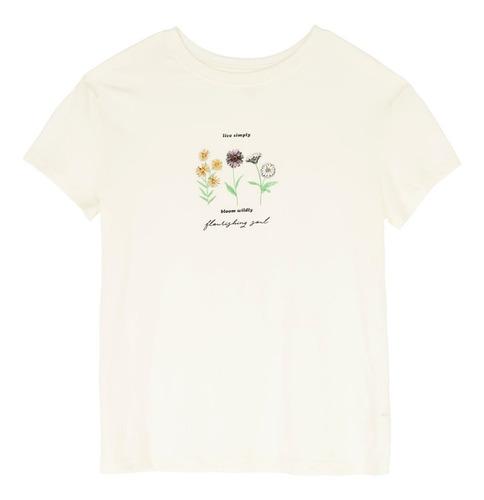 playera estampado floral de mujer c&a (mod 1057692)