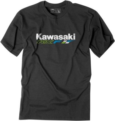 playera factory effex kawasaki hombre man corta kxf negro lg