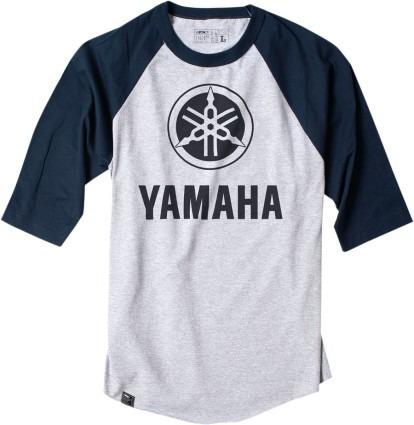 playera factory effex yamaha béisbol hombre manga 3/4 lg