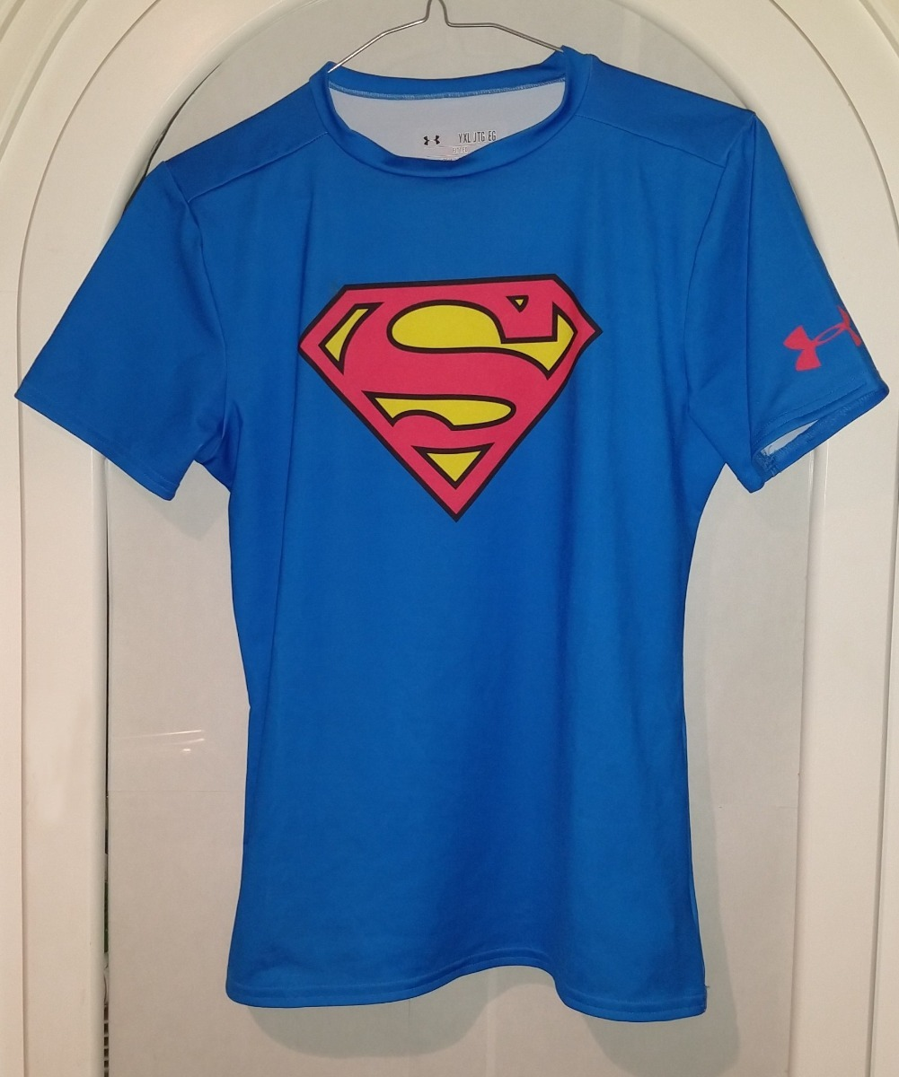 b692897d761a0 playera fitness gymsuperman super chica under armour dama xl. Cargando zoom.