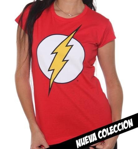 playera flash logo mujer original dc comics