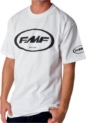 playera fmf racing classic don hombre man. corta bco/neg md