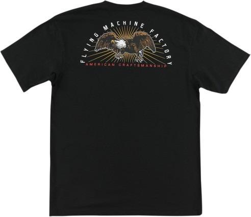 playera fmf racing eagle up hombre manga corta negro md