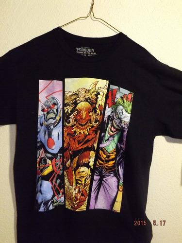 playera forever evil darkseid, domsday & the joker mca toxic