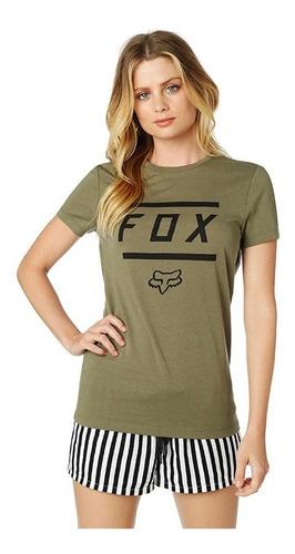 playera fox listless ss crew para mujer