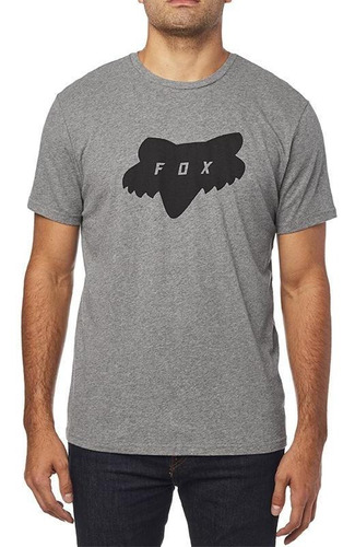 playera fox traded ss airline  gris