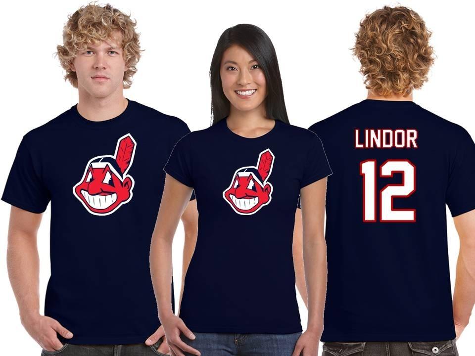 save off 4f243 6a68b Playera Francisco Lindor Jersey Cleveland Indians Mlb