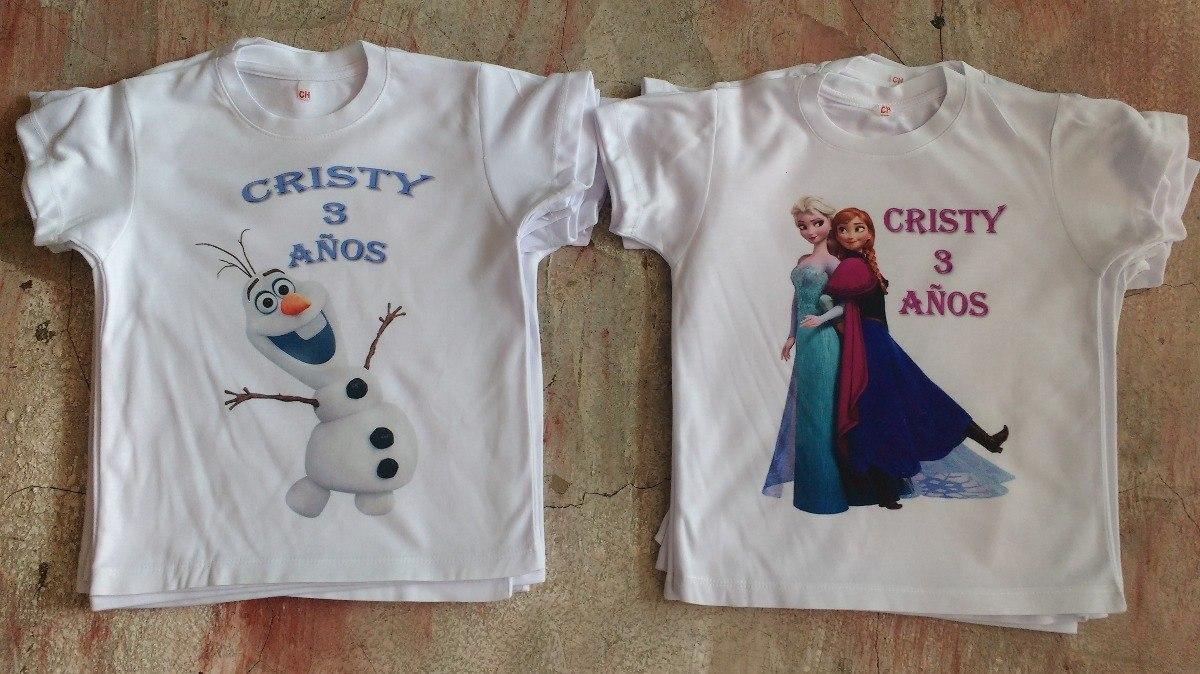 Playera Frozen Princesas Fiestas Infantiles Personalizada -   70.00 ... 83a501ea09787