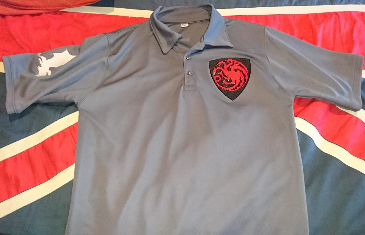 b1dc1664a125c playera game of thrones tipo polo bordada premium targaryen. Cargando zoom.