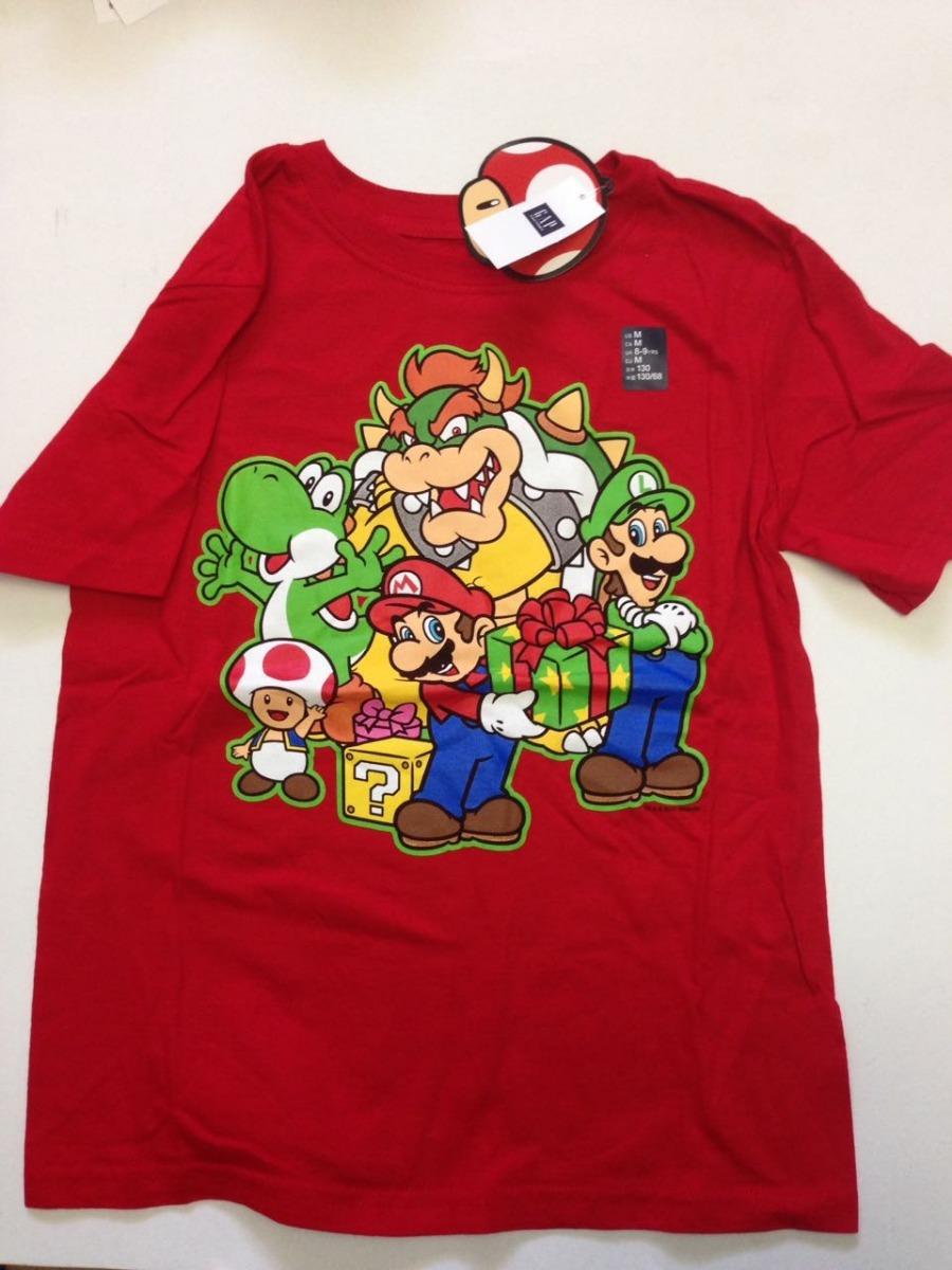 f221c615a65d0 Mario Bros Playera Gap Niño Con Licencia 100% Original -   410.00 en ...