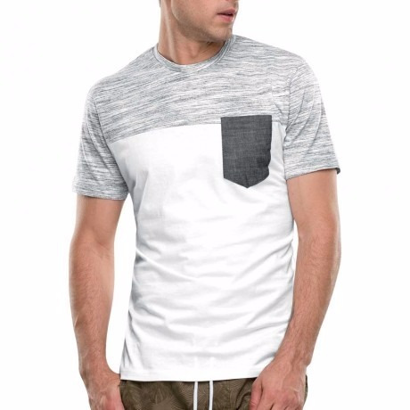 playera gris blanco bi color