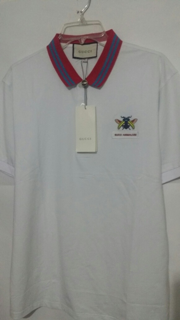c268ced1f3f41 Playera Gucci Abeja Colores Blanca Camiseta Polo -   589.00 en ...