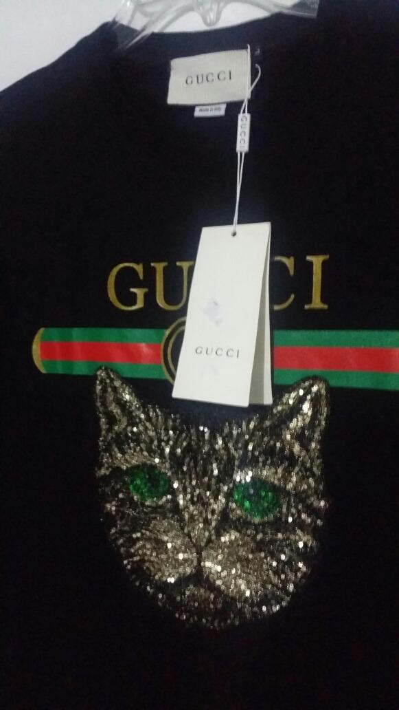 Playera Gucci Cat Mystic Gato Negro Hombre -   649.00 en Mercado Libre 404da9dcffa