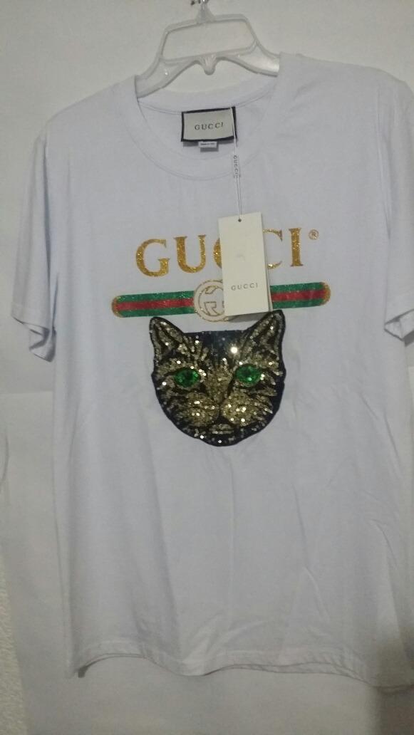 Playera Gucci Cat Mystic Hombre Original -   599.00 en Mercado Libre d56ede1881f