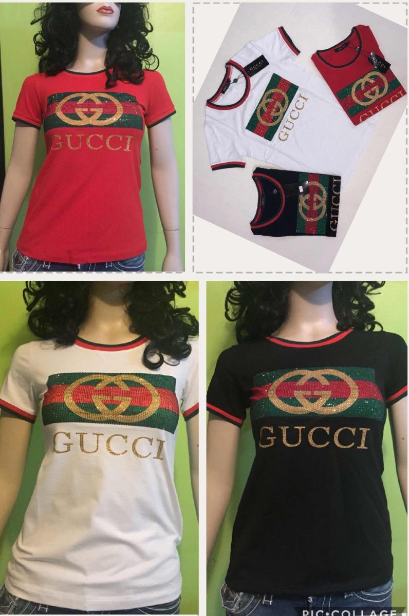 Playera Gucci Dama Piedreria 3 Colores Disponibles -   600.00 en ... ab98f29d016