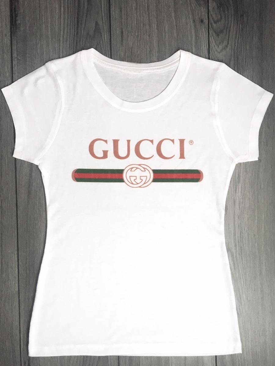efbdbeeed76dd Playera Gucci Moda Varios Modelos Mujer Envío Gratis -   250.00 en ...