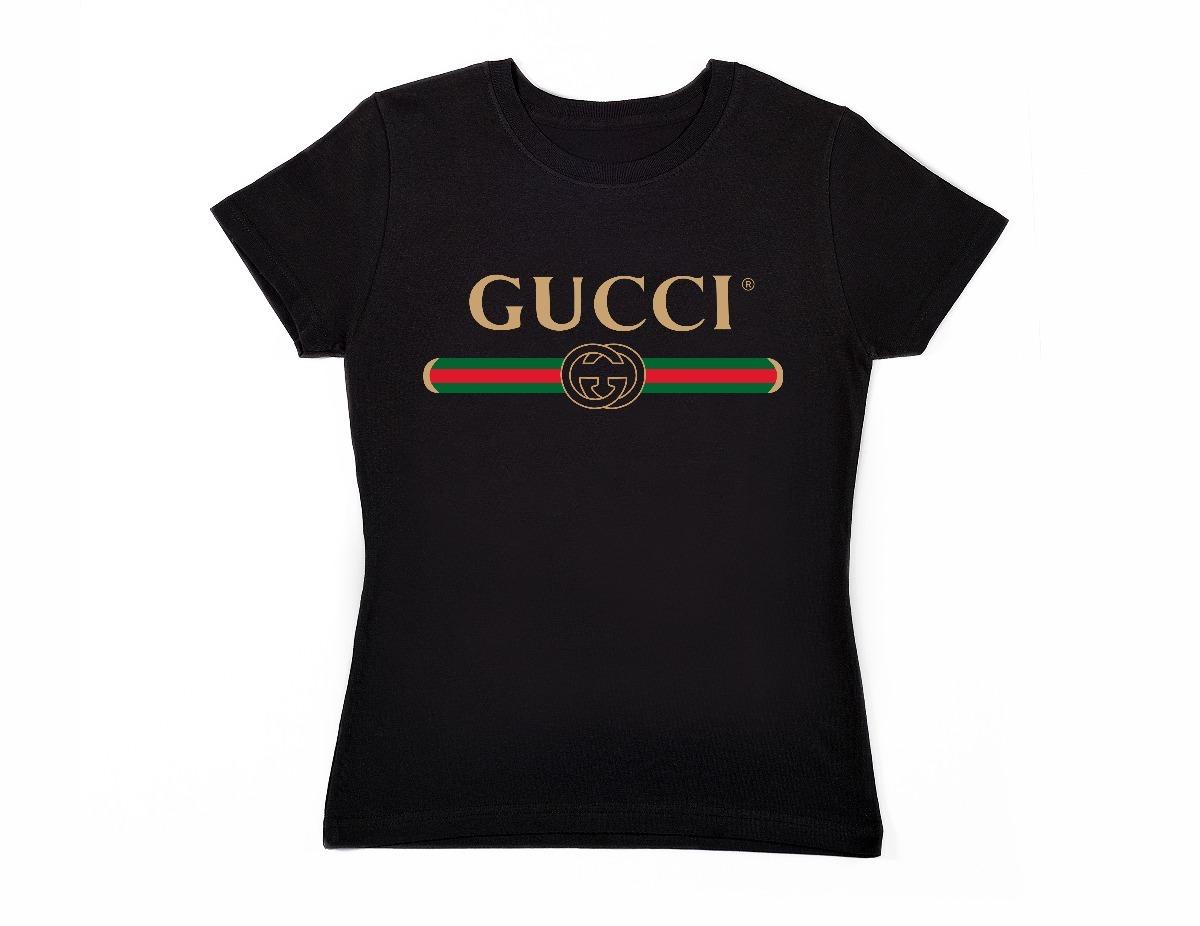 69b0ed0c4106f Playera Gucci Mujer Negro-gris-rosa-azul Envío Gratis -   270.00 en ...
