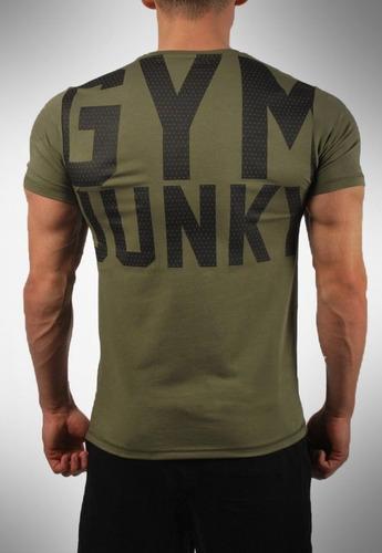 playera gym junky compresion crossfit