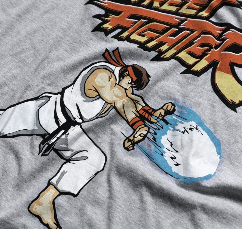 Playera Hadouken Ryu Mascara De Latex Street Fighter Capcom