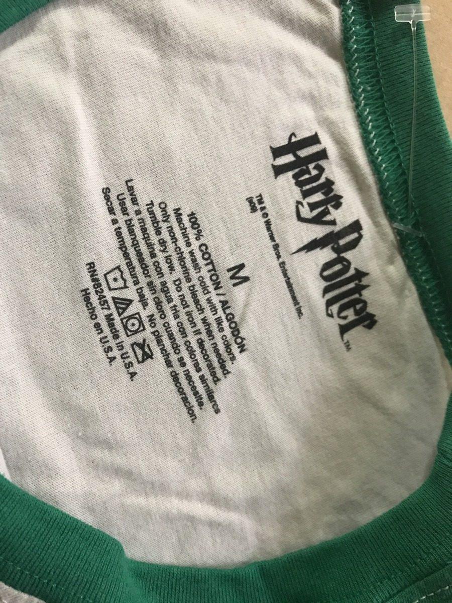 Playera Harry Potter Slytherin Baseball Manga 3 4 Dama -   499.00 en ... 5850a2139a2fd