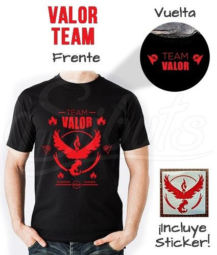 playera hombre pokemon go valor team sticker envío gratis!