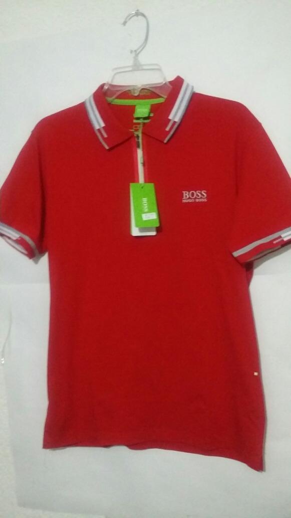 Playera Hugo Boss Cierre Rojo Filtro Uv Polo -   549.00 en Mercado Libre b8756cd17431b