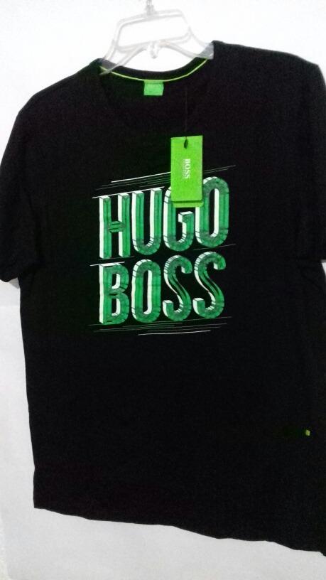 Playera Hugo Boss Green Label Negro Con Vde -   399.00 en Mercado Libre 578db2ac97f