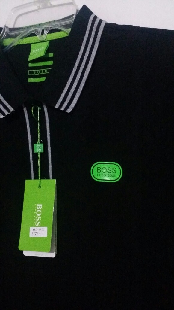 Playera Hugo Boss Green Placa Plastificada Verde -   549.00 en ... 0496a96a52c