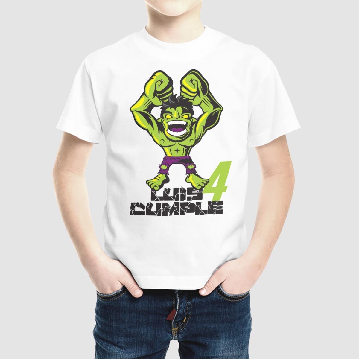 b01278089285f Playera Hulk Cumpleaños Personalizada Nombre Y Edad -   135.00 en ...