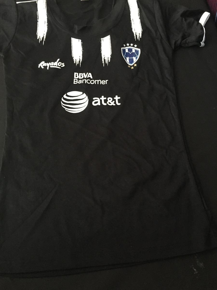 03a5b66e5a5 playera jersey blusa monterrey rayados mujer 2017 sexy negra. Cargando zoom.