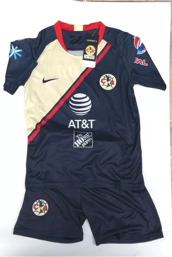 65b52a7dd7f08 Playera Jersey Club América Azul Niño Y Adulto 2018-2019 -   399.00 ...