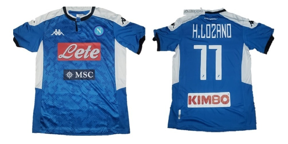 best service 5cd60 88ee6 Playera Jersey Futbol Napoli Kappa Nuevo Hirving Chucky Lozano